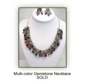 Multi-color Gem Stone Necklace