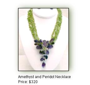 Amethyst and Peridot Necklace