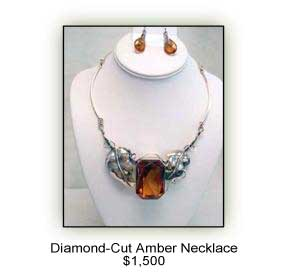 Diamond Cut Amber Necklace