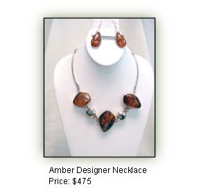 Amber Designer Necklace
