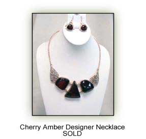 Cherry Amber Designer Necklace