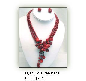 Dyed Coral Necklace