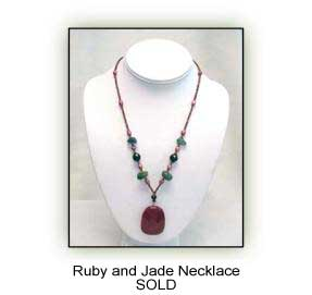 Ruby and Jade Necklace